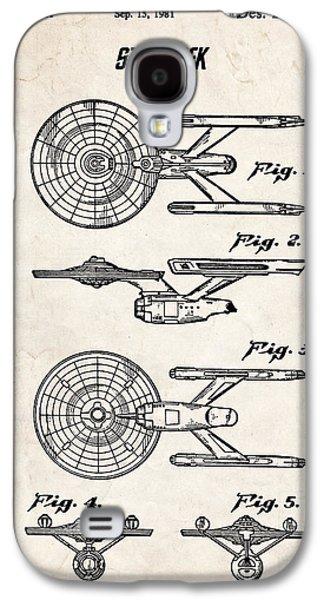 Star Trek Uss Enterprise Patent Art Galaxy S4 Case
