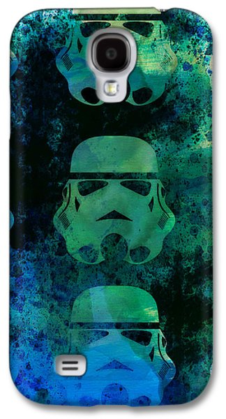 Star Warriors Watercolor 1 Galaxy S4 Case by Naxart Studio