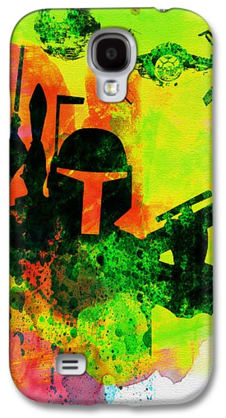 Star Warriors Watercolor 3 Galaxy S4 Case by Naxart Studio