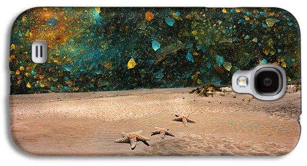 Starry Beach Night Galaxy S4 Case by Betsy Knapp