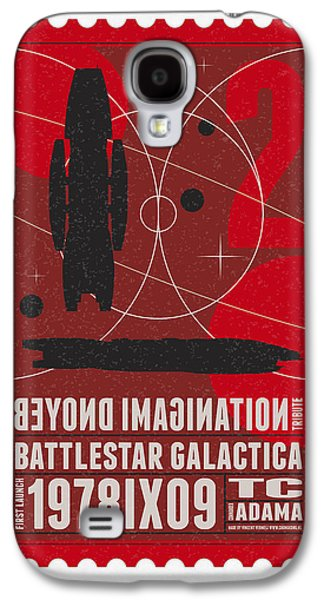 Starschips 02-poststamp - Battlestar Galactica Galaxy S4 Case by Chungkong Art