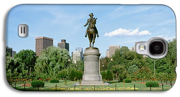 Statue In A Garden, Boston Public Galaxy S4 Case by Panoramic Images