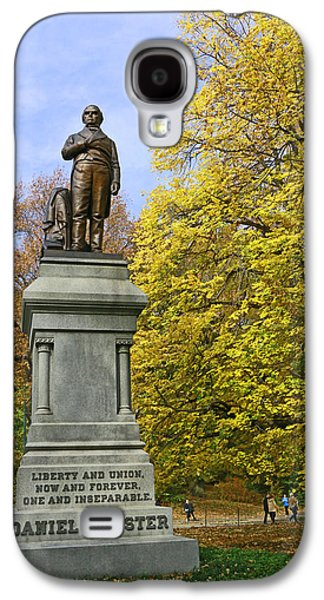 Statue Of Daniel Webster - Central Park Galaxy S4 Case by Allen Beatty