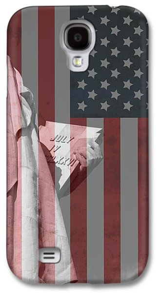 Statue Of Liberty And American Flag Galaxy S4 Case