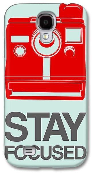Stay Focused Polaroid Camera Poster 4 Galaxy S4 Case by Naxart Studio
