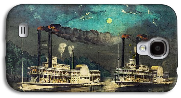 Steamboat Racing On The Mississippi Galaxy S4 Case by Lianne Schneider