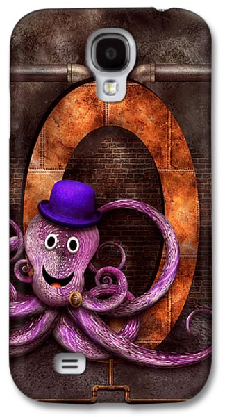 Steampunk - Alphabet - O Is For Octopus Galaxy S4 Case