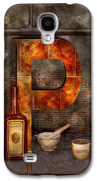 Steampunk - Alphabet - P Is For Pharmacy Galaxy S4 Case by Mike Savad