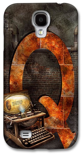 Steampunk - Alphabet - Q Is For Qwerty Galaxy S4 Case