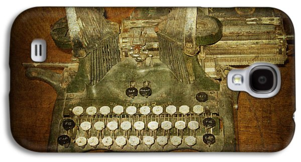 Steampunk Antique Typewriter Oliver Company Galaxy S4 Case by Svetlana Novikova