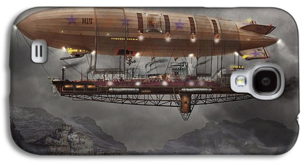 Steampunk - Blimp - Airship Maximus  Galaxy S4 Case by Mike Savad