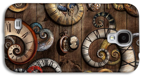 Steampunk - Clock - Time Machine Galaxy S4 Case by Mike Savad