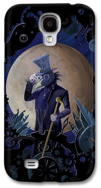 Raven Galaxy S4 Case - Steampunk Crownman by Sassan Filsoof