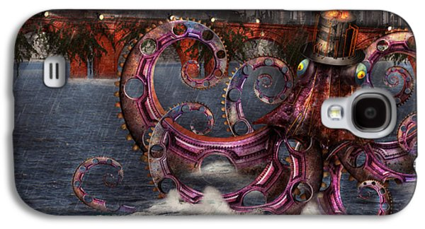 Steampunk - Enteroctopus Magnificus Roboticus Galaxy S4 Case