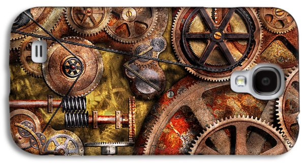 Steampunk - Gears - Inner Workings Galaxy S4 Case by Mike Savad