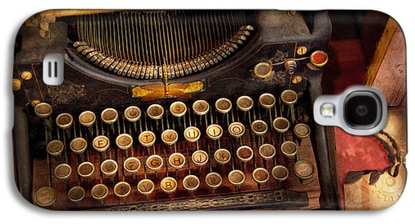 Steampunk - Just An Ordinary Typewriter  Galaxy S4 Case by Mike Savad