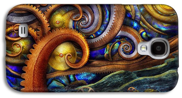 Steampunk - Starry Night Galaxy S4 Case by Mike Savad