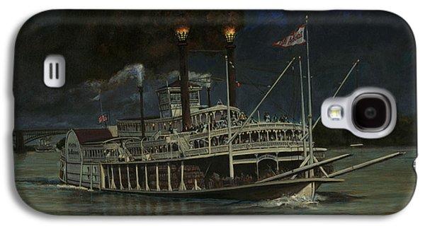 Kate Adams Steamboat Night Galaxy S4 Case by Don  Langeneckert