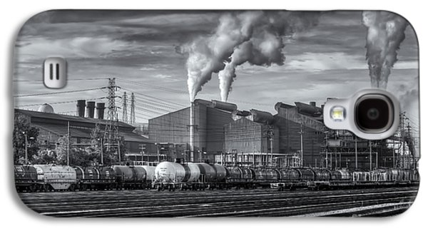 Steel Mill And Freight Yard Iv Galaxy S4 Case by Clarence Holmes