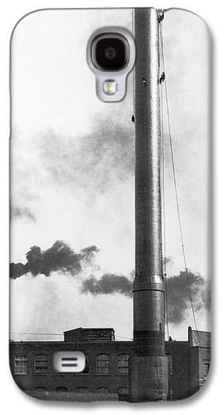 Steeplejacks Painting Chimney Galaxy S4 Case by Underwood Archives