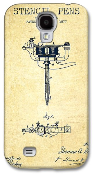 Stencil Pen Patent From 1877 - Vintage Galaxy S4 Case by Aged Pixel