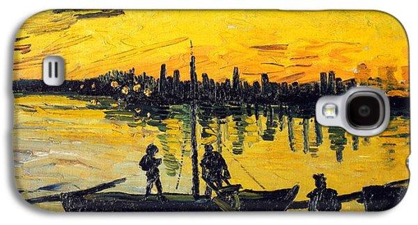 Stevedores In Arles Galaxy S4 Case by Vincent van Gogh