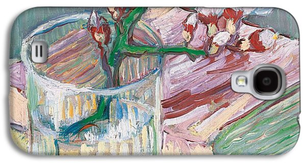 Still Life    A Flowering Almond Branch Galaxy S4 Case by Vincent Van Gogh