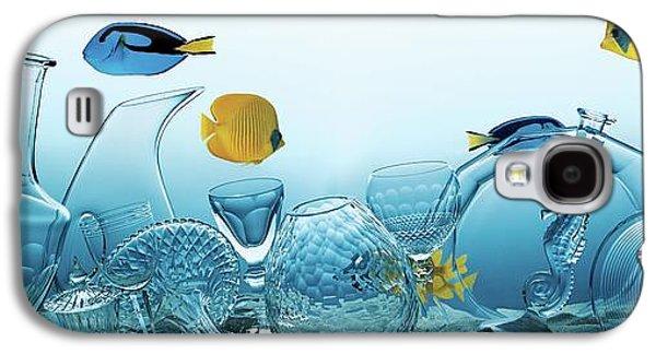 Still Life Of Assorted Glassware Galaxy S4 Case by Frederik Lieberath