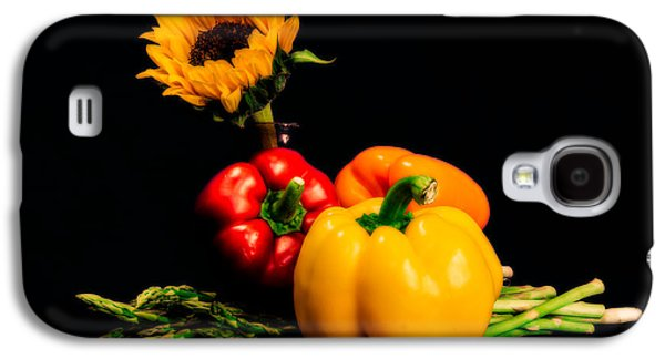 Still Life Peppers Asparagus Sunflower Galaxy S4 Case