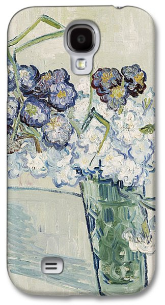 Still Life Vase Of Carnations Galaxy S4 Case by Vincent van Gogh