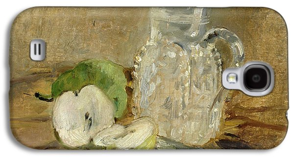 Still Life With A Cut Apple And A Pitcher Galaxy S4 Case by Berthe Morisot