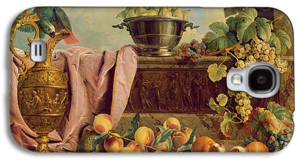 Still Life With A Jug, 1734 Oil On Canvas Galaxy S4 Case by Alexandre-Francois Desportes
