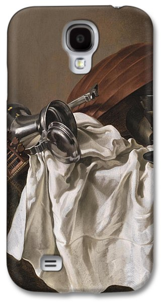 Still Life With A Lute Galaxy S4 Case by Willem van Odekercken