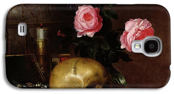 Still Life With A Skull Oil On Canvas Galaxy S4 Case by Letellier