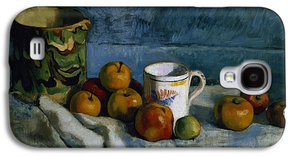 Still Life With Apples Cup And Pitcher Galaxy S4 Case by Paul Cezanne