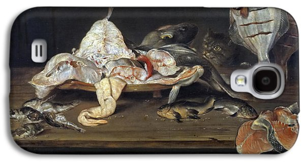 Still Life With Fish And A Cat Galaxy S4 Case by Alexander Adriaenssen