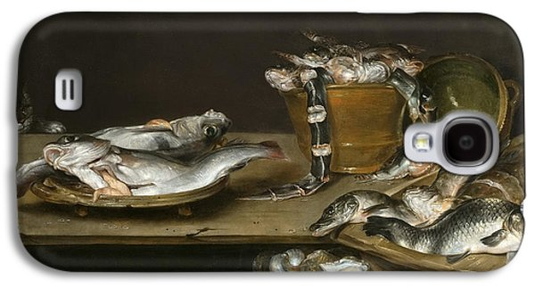 Still Life With Fish Oysters And A Cat Galaxy S4 Case by Alexander Adriaenssen