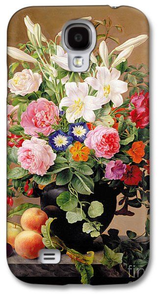 Still Life With Flowers And Fruit Galaxy S4 Case by V Hoier
