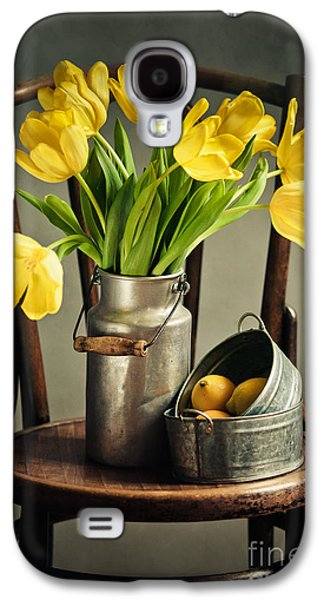 Still Life With Yellow Tulips Galaxy S4 Case by Nailia Schwarz