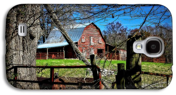 Still Useful Rustic Red Barn Art Oconee County Galaxy S4 Case