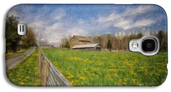 Stone Barn On A Spring Morning Galaxy S4 Case
