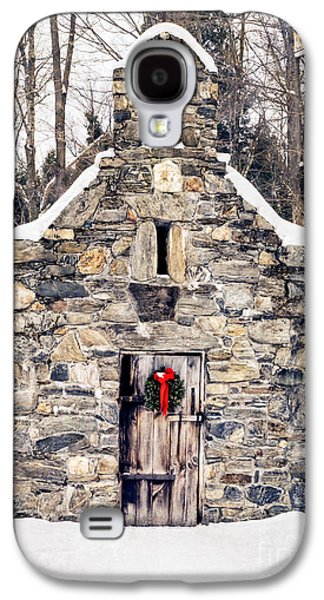 Stone Chapel In The Woods Trapp Family Lodge Stowe Vermont Galaxy S4 Case by Edward Fielding