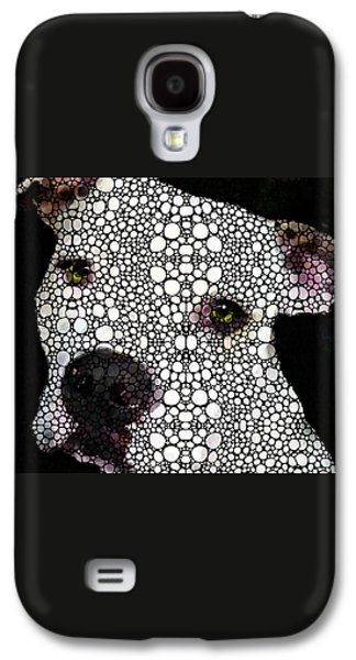 Stone Rock'd Dog By Sharon Cummings Galaxy S4 Case by Sharon Cummings