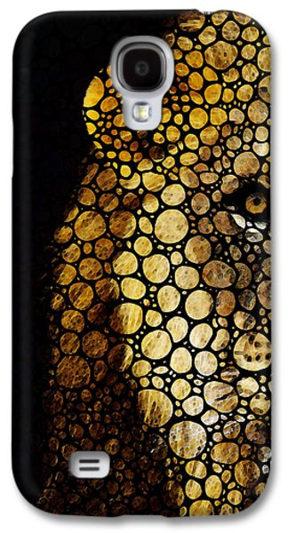 Stone Rock'd Lion - Sharon Cummings Galaxy S4 Case by Sharon Cummings