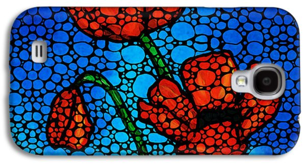 Stone Rock'd Poppies By Sharon Cummings Galaxy S4 Case