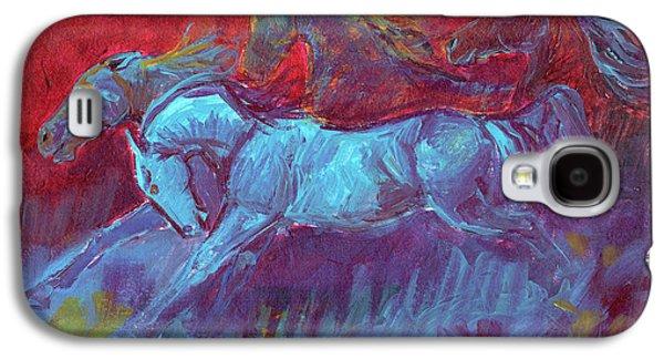 Stoneflur Fun Run Galaxy S4 Case by Linda L Martin