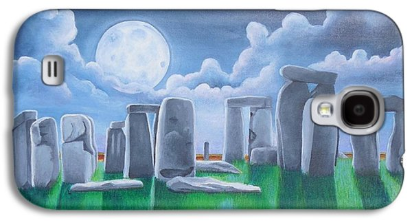 Stonehenge By The Light Of The Super Moon Galaxy S4 Case by Golanv  Waya