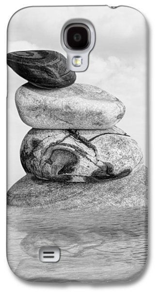 Stones In Water Black And White Galaxy S4 Case by Gill Billington