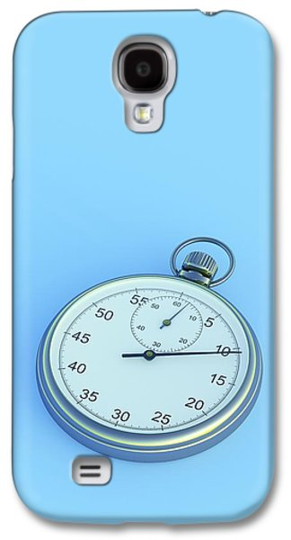 Stopwatch On Blue Background Galaxy S4 Case