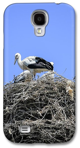Storks Nesting Galaxy S4 Case by Photostock-israel